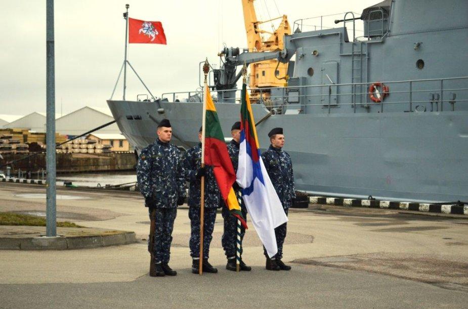 """LK laivų apžiūros grupės išlydėjimo ceremonija į operacija """"Sophia"""""""