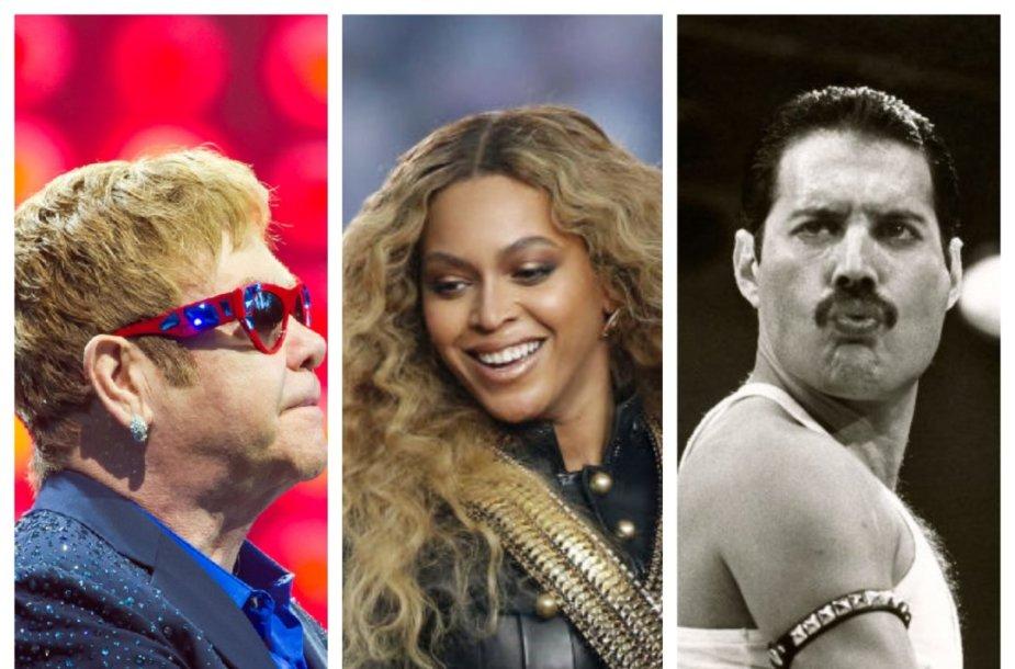 Eltonas Johnas, Beyonce, Freddy Mercuris