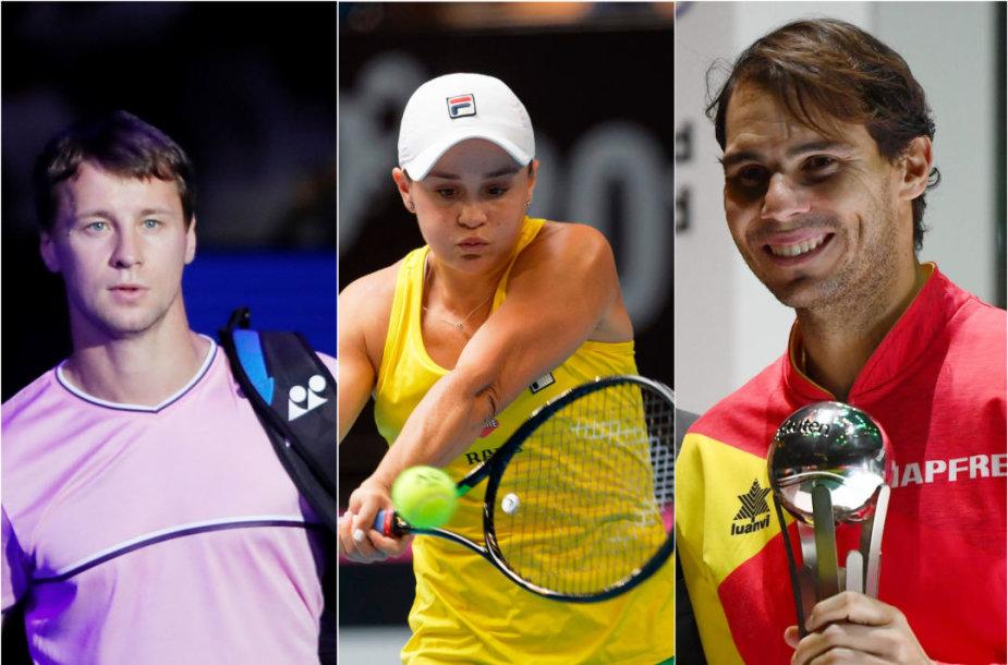 Ričardas Berankis, Ashleigh Barty ir Rafaelis Nadalis