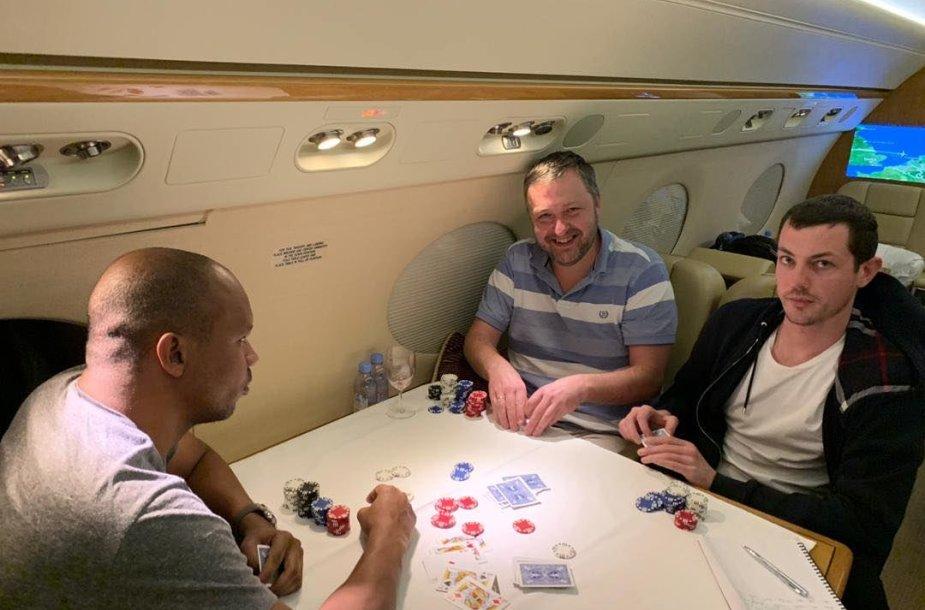 Philas Ivey (kairėje), Antanas Guoga ir Tomas Dwanas / asm. archyvo nuotr.