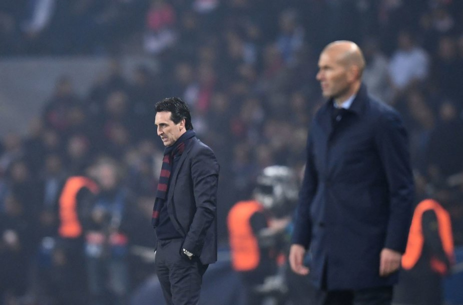 Unai Emery ir Zinedine'as Zidane'as