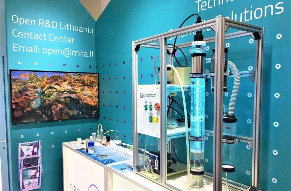 """Lietuvos mokslo susivienijimo """"Open R&D Lietuva"""" stendas """"Hannover Messe"""" parodoje"""