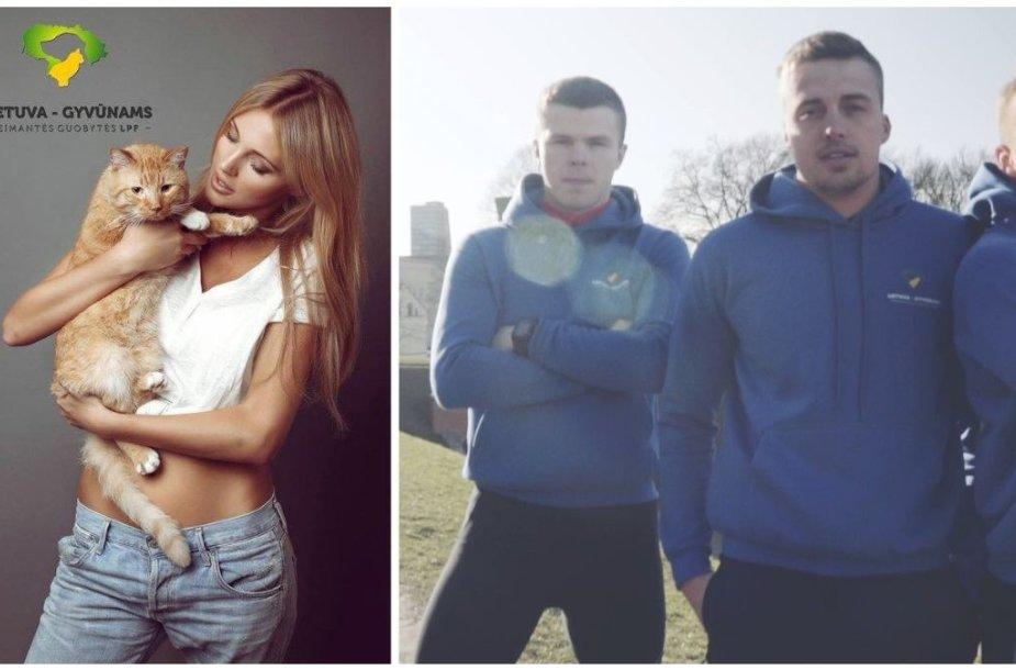 Deimantė Guobytė, Povilas Lengvinas, Lukas Baranauskas ir Paulius Dragūnas