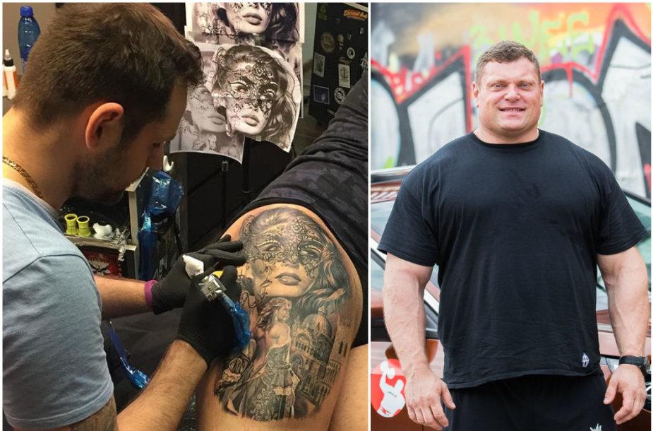 Žydrūnas Savickas ir jo tatuiruotė