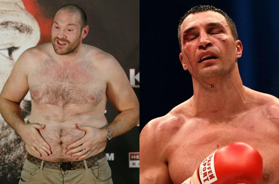 Tysonas Fury ir Vladimiras Klyčko