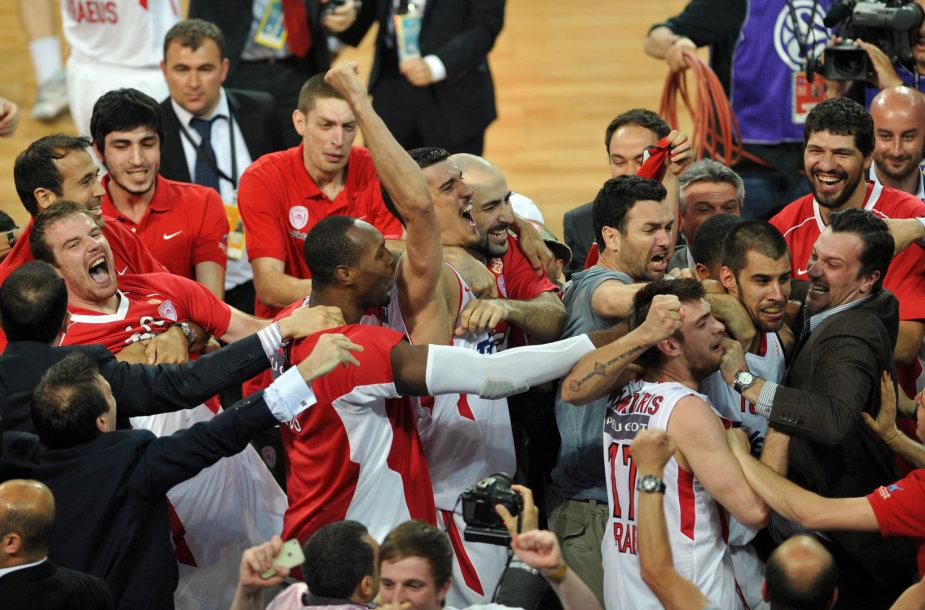 """Martynas Gecevičius su Pirėjo """"Olympiakos"""" klubu dusyk tapo Eurolygos čempionu."""