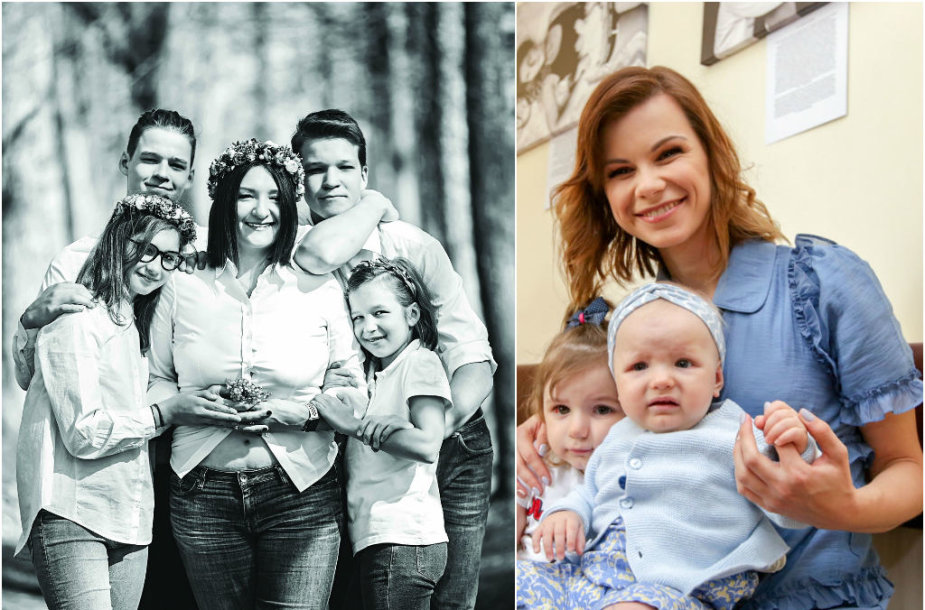 Austėja Landsbergienė, Laura Mazalienė su atžalomis