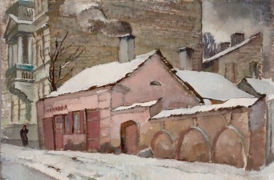 Mykolas Rauba. Namai Vilniuje prie Katedros aikštės ir Bonifratų gatvės. 1939. Lietuvos dailės muziejus.