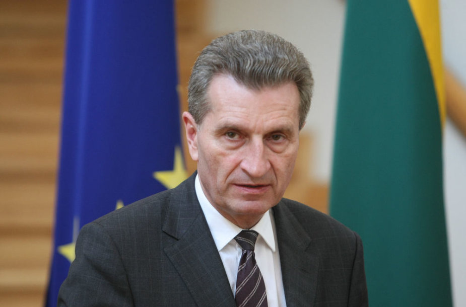Europos Komisijos energetikos komisaras Giuntheris Oettingeris