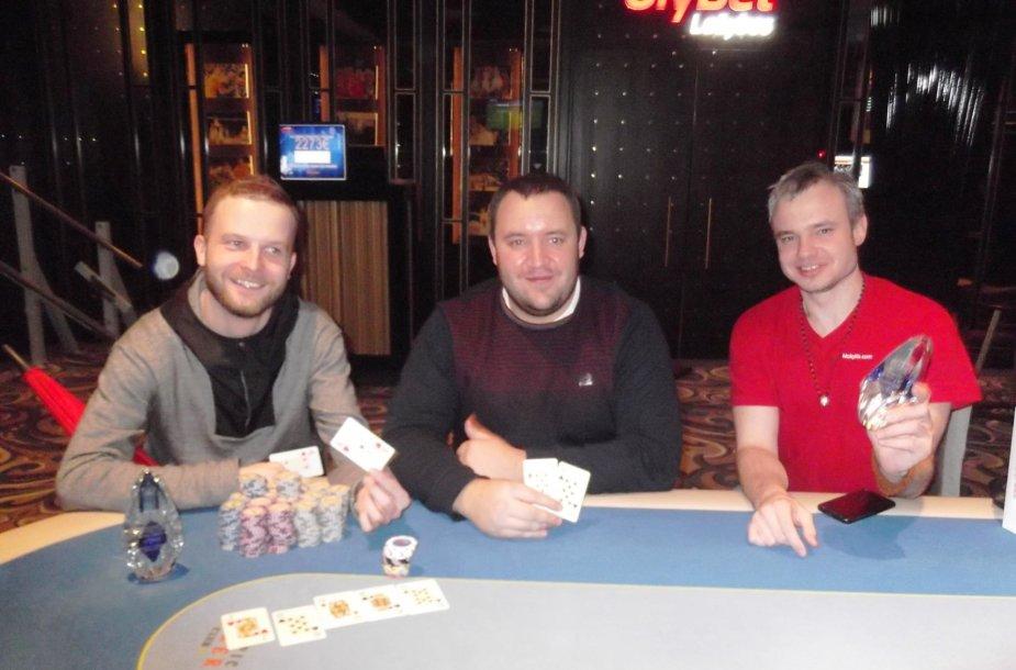 Aleksandras Rusinovas (kairėje), Arūnas Jocius (centre) ir Zigmas Pekarskas / organizatorių nuotr.