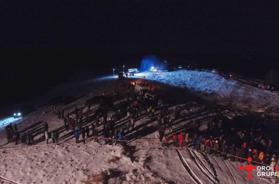 """Halls Winter Rally 2015"""" iš paukščio skrydžio"""