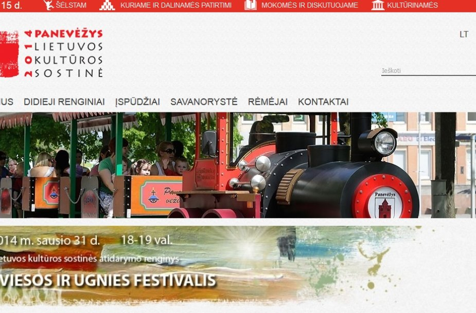 Panevėžys – Lietuvos kultūros sostinė 2014 portalas