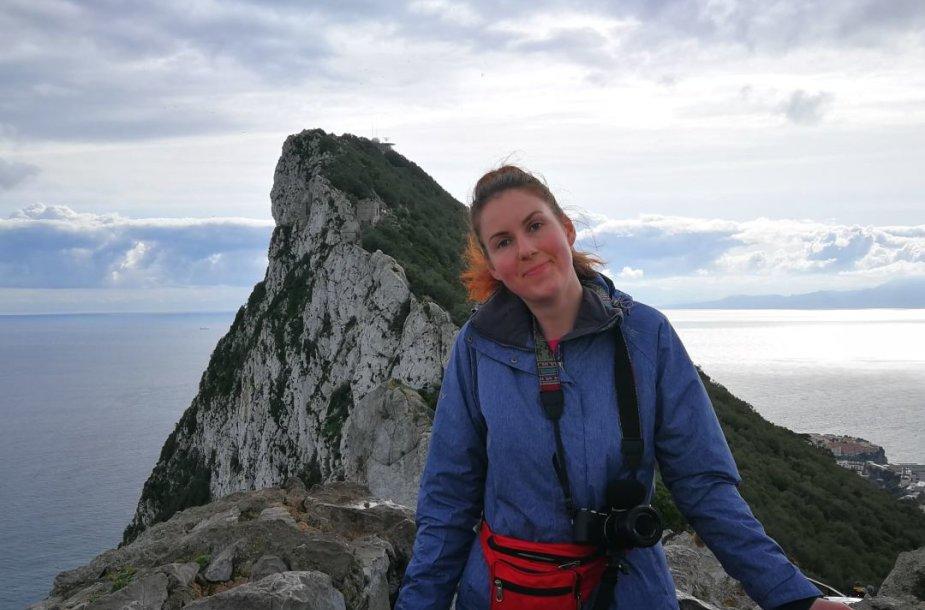 Sandra Galdikaitė ant Gibraltaro uolos