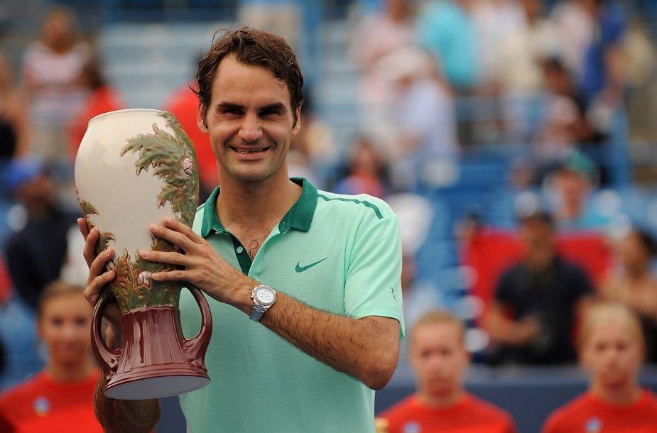 Rogeris Federeris šeštą kartą laimėjo turnyrą Sinsinatyje