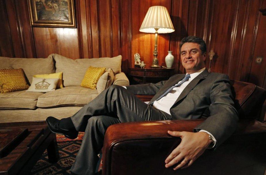 Pasaulio prekybos organizacijos (PPO) vadovas brazilas Roberto Azevedo
