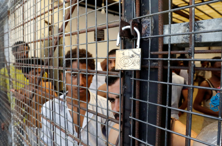 Migrantų priėmimo centras Libijos sostinėje Tripolyje