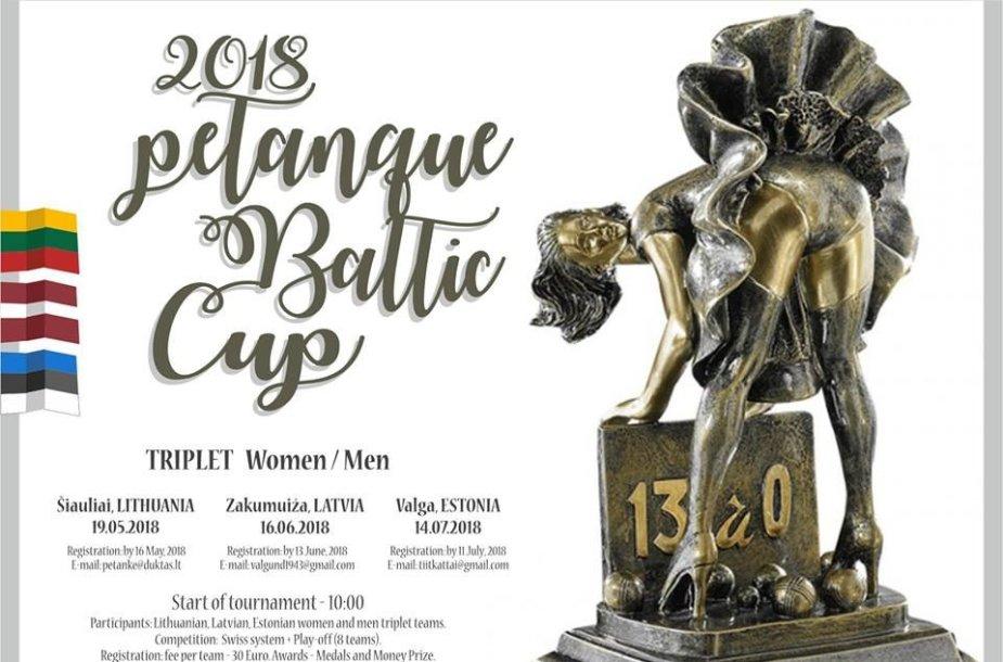 """Šiauliuose gegužę vyks """"2018 Petanque Baltic Cup"""" turnyro prizas"""