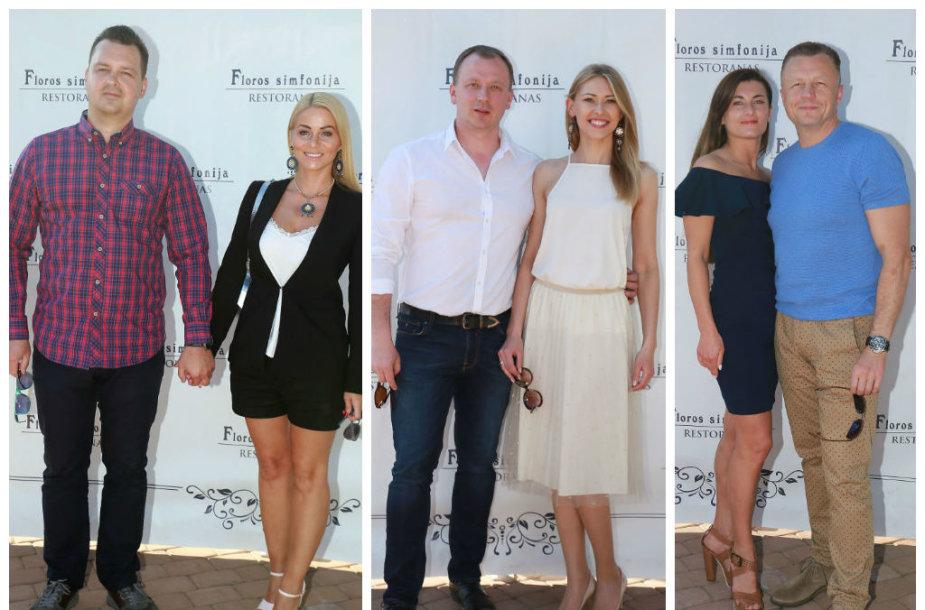 Vaida Genytė su vyru Aidu, Sandra Daukšaitė-Petrulėnė su vyru Aurimu, Živilė Joneikaitė ir Gediminas Juodeika