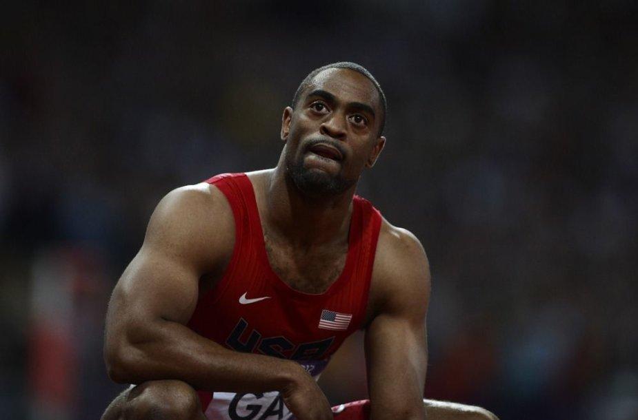 JAV bėgikas Tysonas Gay