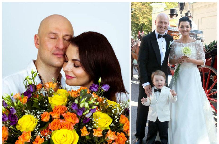 Algirdas ir Milisandra Radzevičiai tuokėsi du kartus. 2008-aisiais metais kovo 14-ąją Santuokų rūmuose ir 2011-ąją rugpjūčio 26-ąją bažnyčioje (dešinėje)