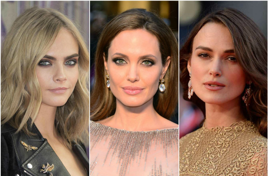 Cara Delevingne, Angelina Jolie ir Keira Knightley