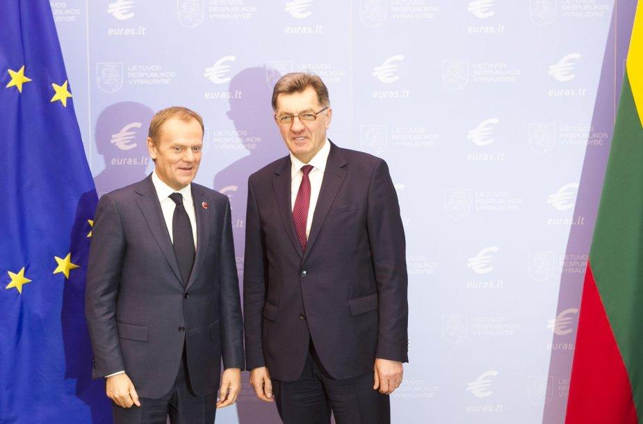 Donaldas Tuskas ir Algirdas Butkevičius