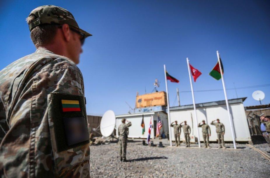 Lietuvos kariuomenės SOP karių sudaryta specialiųjų operacijų patarėjų grupė Afganistane