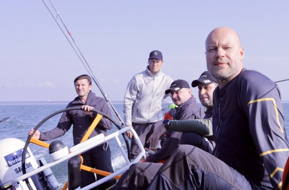 """""""Ambersail 2"""" įgulos treniruotė Baltijos jūroje"""