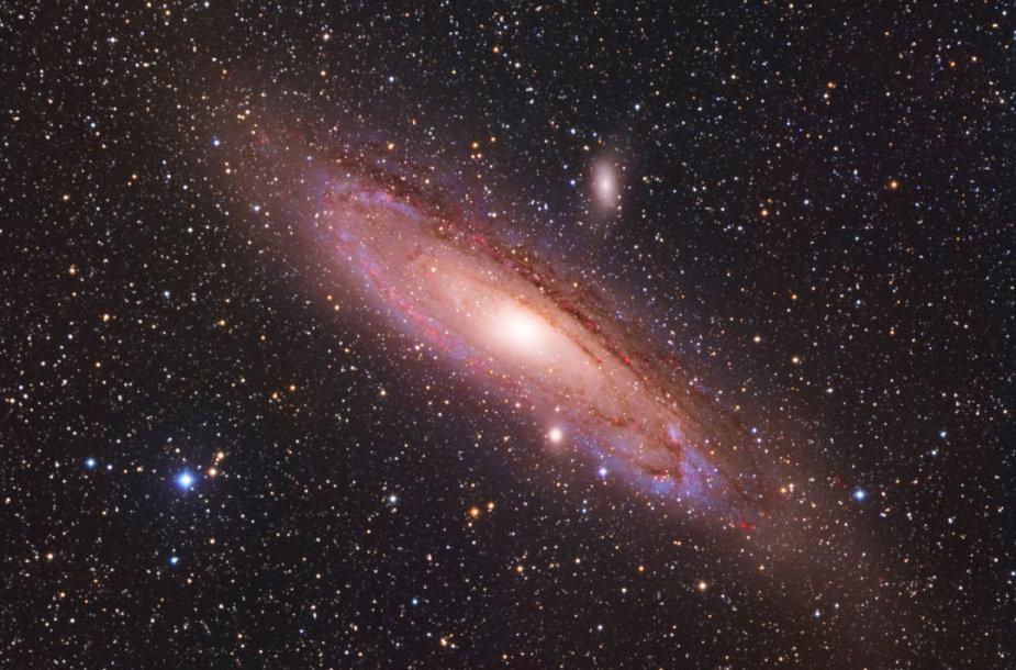 """Artūro užfiksuota M31 (""""Andromeda"""") galaktika"""