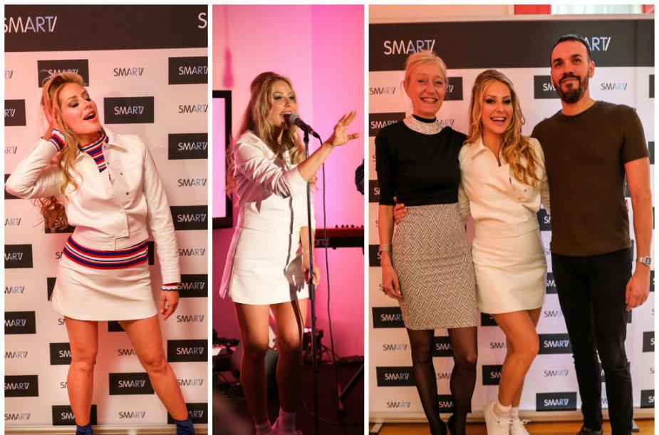 "Celine Dion vaybininkė Valerie Michelin, Ginta Biku, ""Sony Music Entertainment"" projektų vadovas Yannas Fortas"