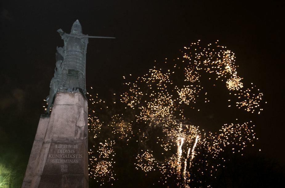 Vilnius pasitiko Naujuosius 2018-uosius metus