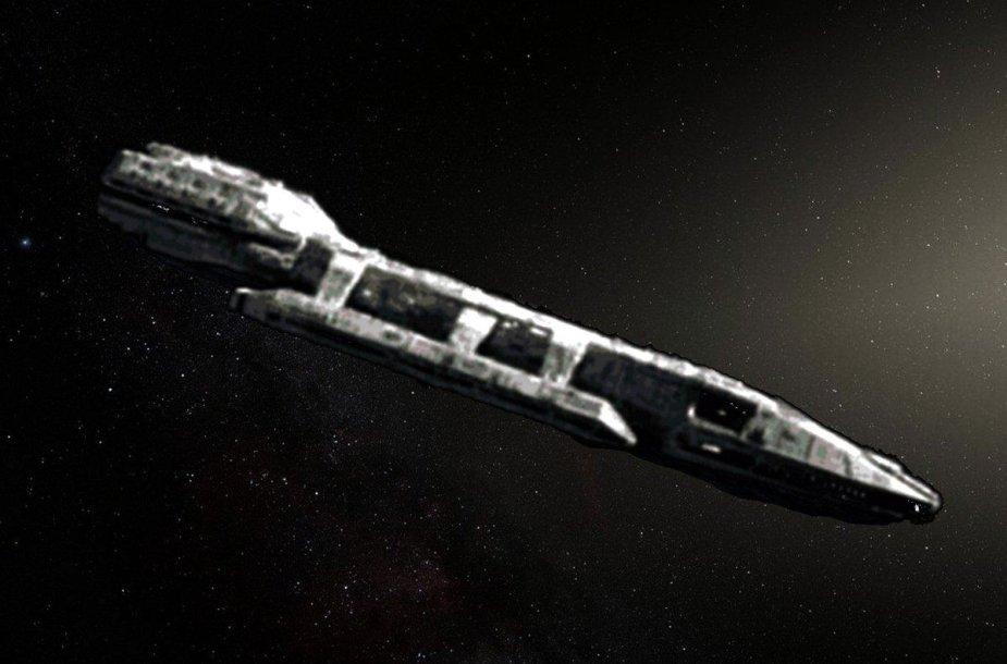 Asteroidas Oumuamua – nežemiškas kosminis laivas?