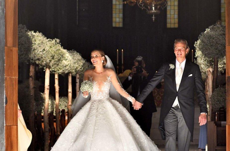 """""""Swarovski"""" paveldėtojos Victorios Swarovski vestuvių akimirka"""