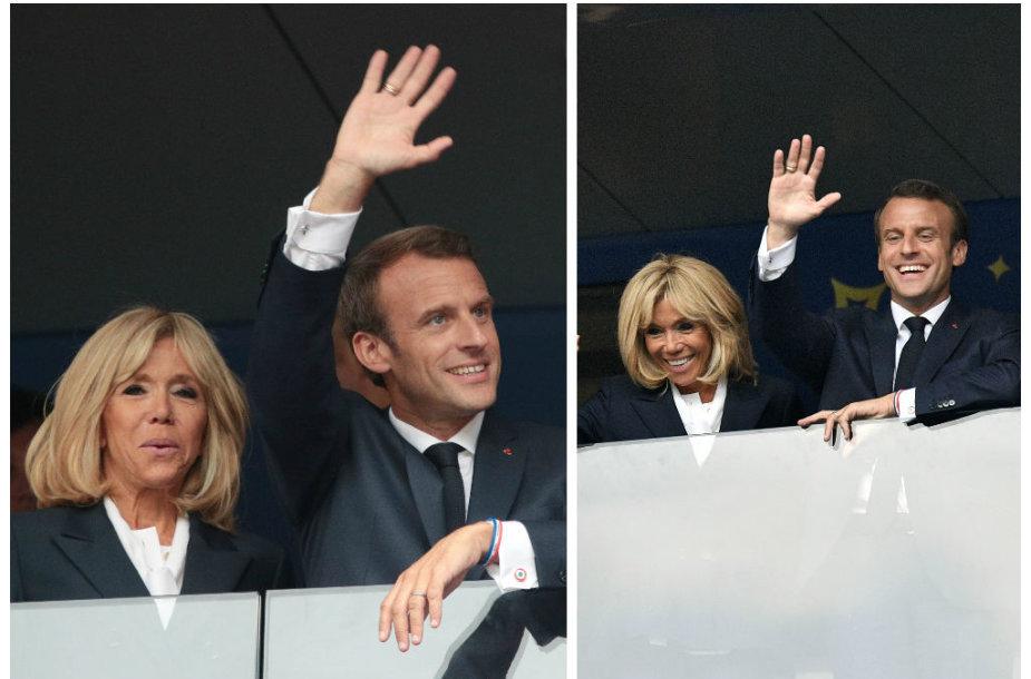 Emmanuelis Macronas ir Brigitte Macron