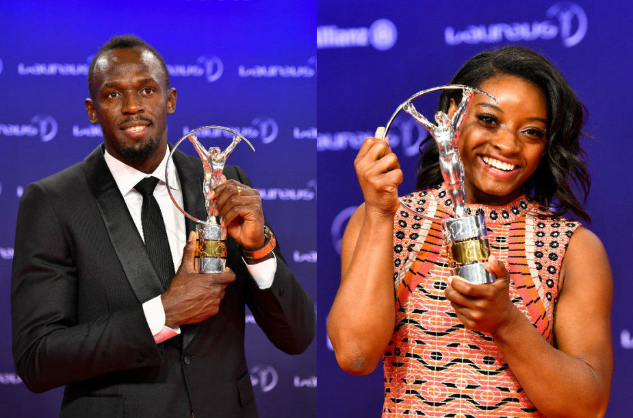 Usainas Boltas ir Simone Biles
