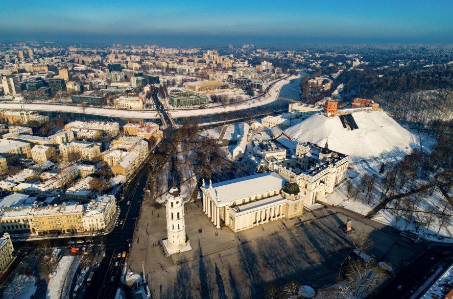 Gimtadienį švenčiančio Vilniaus vaizdai