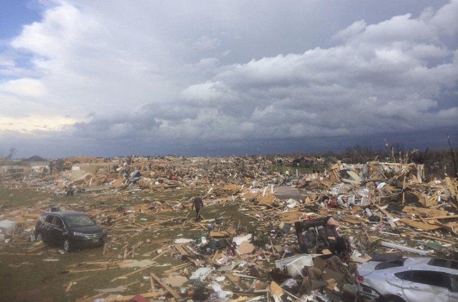 Tornado padariniai Ilinojaus valstijoje