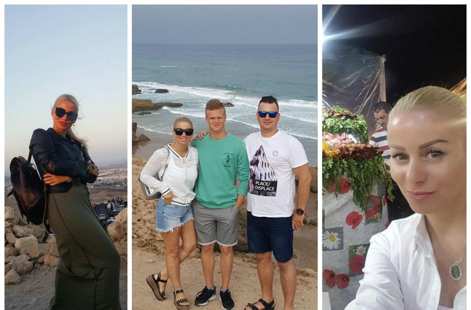 Vaidos Genytės atostogos Maroke su vyru Aidu ir sūnumu Ainiumi