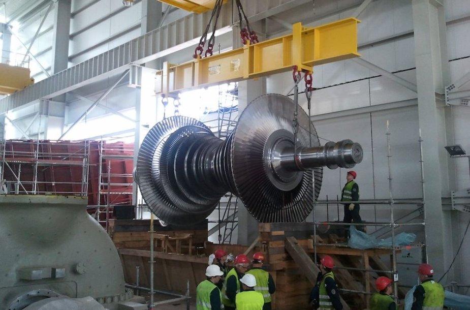 LIetuvos elektrinės 9-ojo bloko statyba