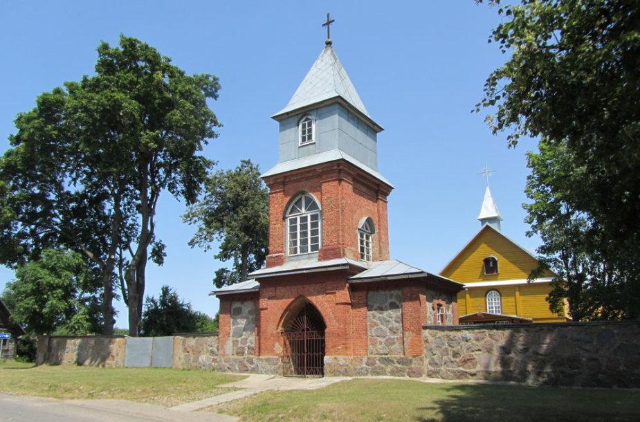 Dieveniškių miestelio varpinė ir bažnyčia