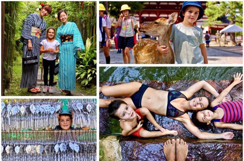 Portugalai Ines ir Jaoa ir du jų vaikai – 7 m. Clara bei 4 m. Diogo – keliauja aplink pasaulį