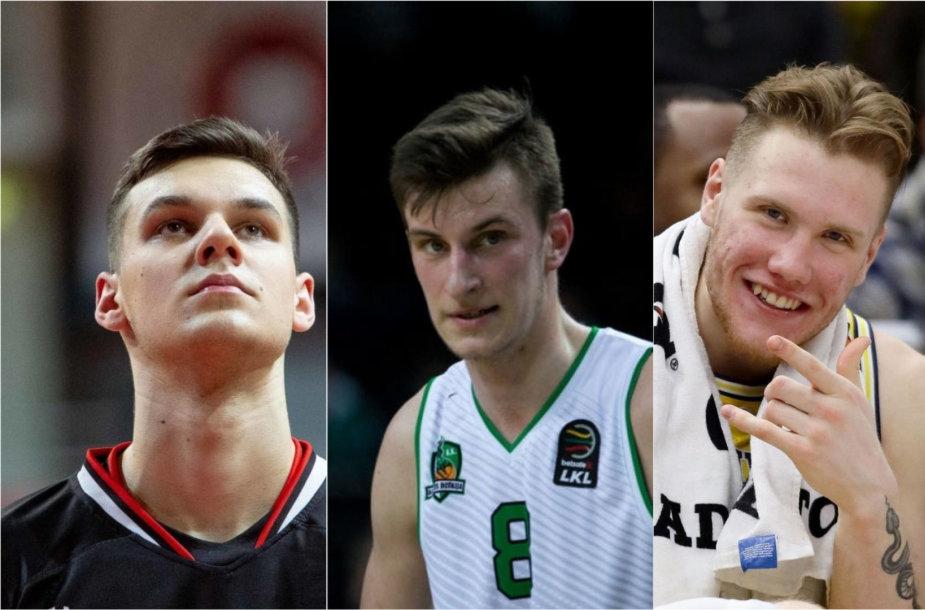 D.Sirvydis, M.Jogėla ir I.Brazdeikis dalyvaus NBA naujokų biržoje
