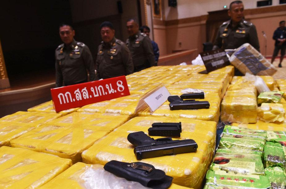 Tailando policija sulaikė koloną su 45 mln. dolerių vertės metamfetamino kroviniu