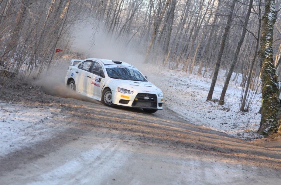 """""""Halls winter rally"""" penktas-septintas greičio ruožai"""