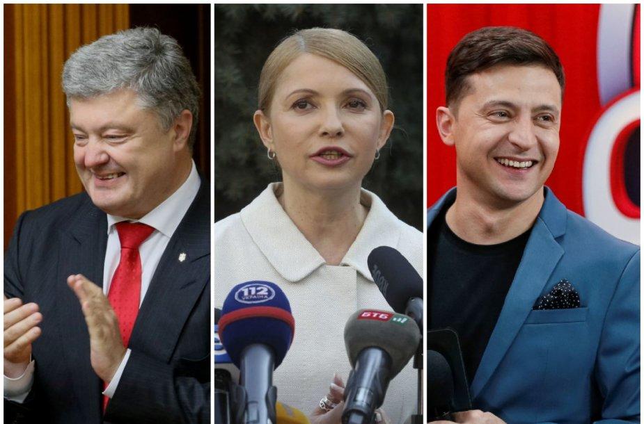 Petro Porošenka, Julija Tymošenko ir Volodymyras Zelenskis