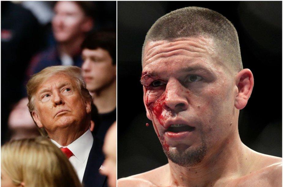 Donaldas Trumpas atėjo pasižiūrėti UFC kovų.