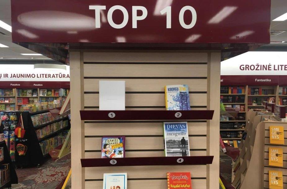 Knyga be pavadinimo - perkamiausių sąrašo viršūnėje