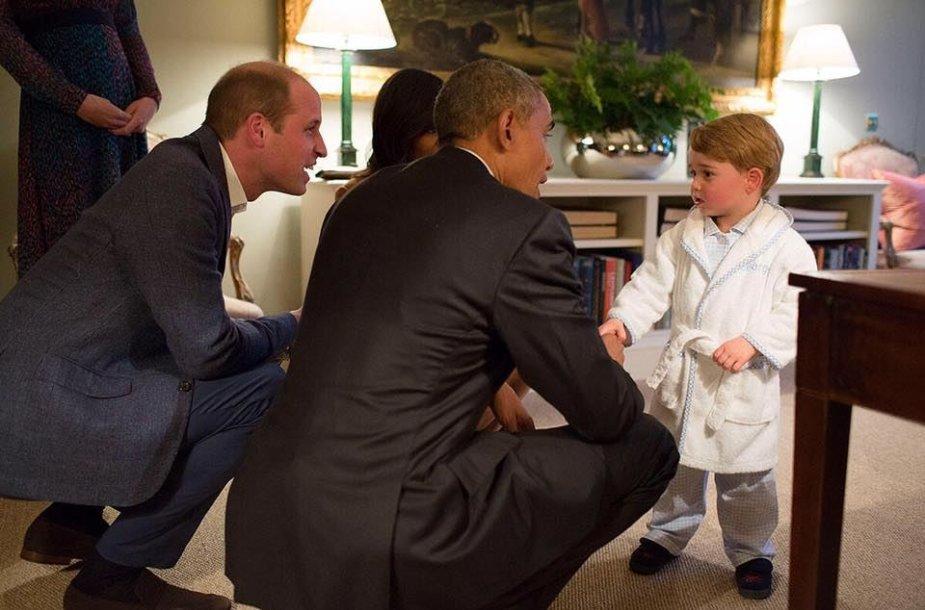 Princas Williamas, Barackas Obama, princas George'as