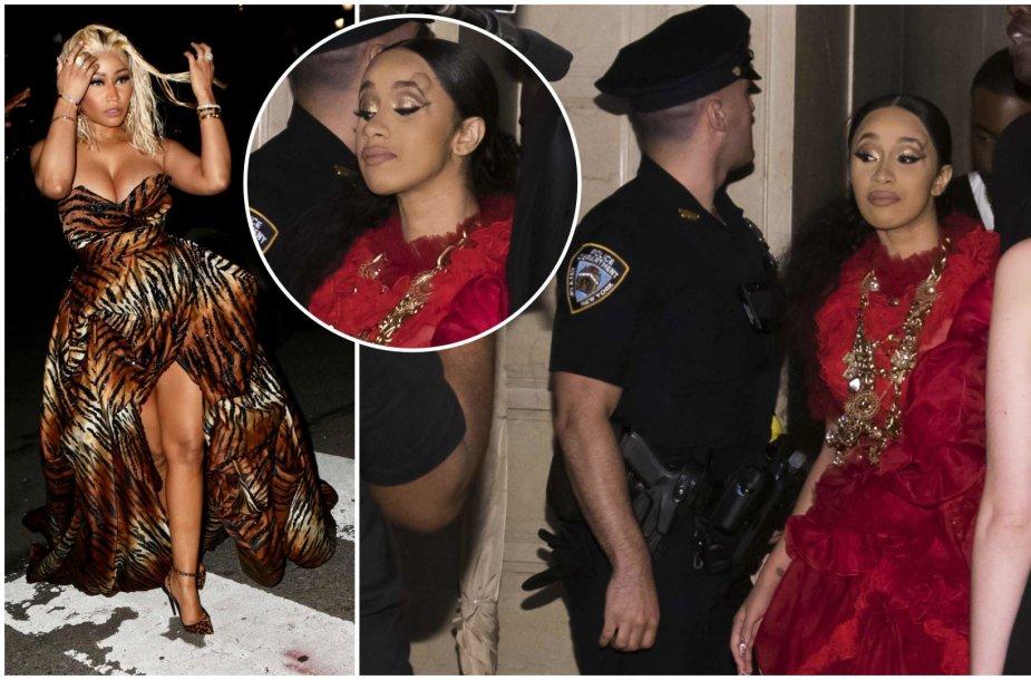 Niujorko mados savaitėje susipešė reperės Nicki Minaj ir Cardi B