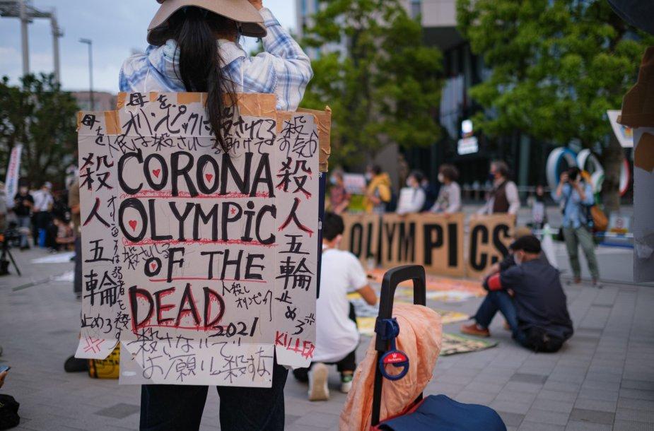 Japonai ragina atšaukti olimpines žaidynes